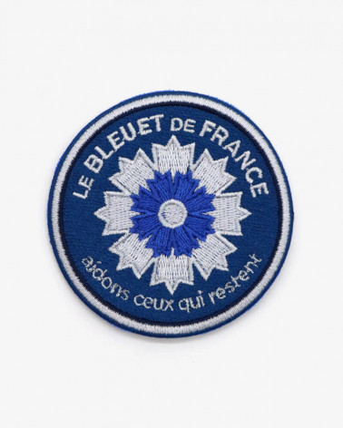 Patch brodé Marine nationale x Bleuet de France