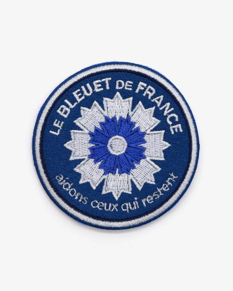 Patch brodé Marine nationale x Bleuet de France