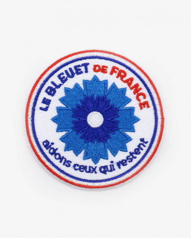 Patch brodé Bleuet de France