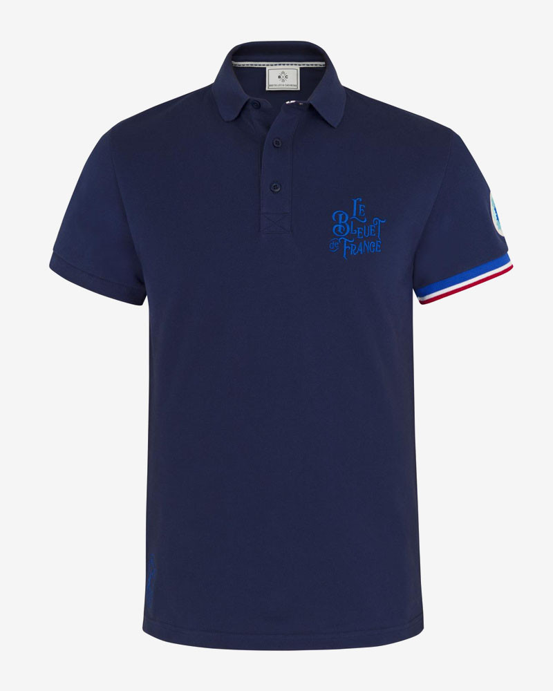 Polo collector Le Bleuet de France x Bretelles & Chevrons