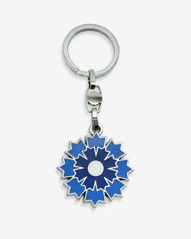 Porte-clé argenté Bleuet de France