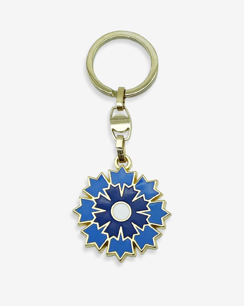 Porte-clé doré Bleuet de France