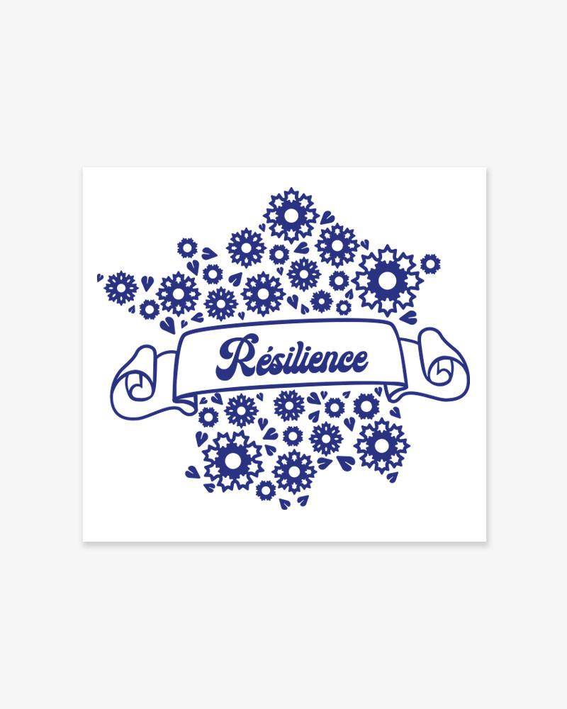 """Tatouage Textile """"Résilience"""" du Bleuet de France"""