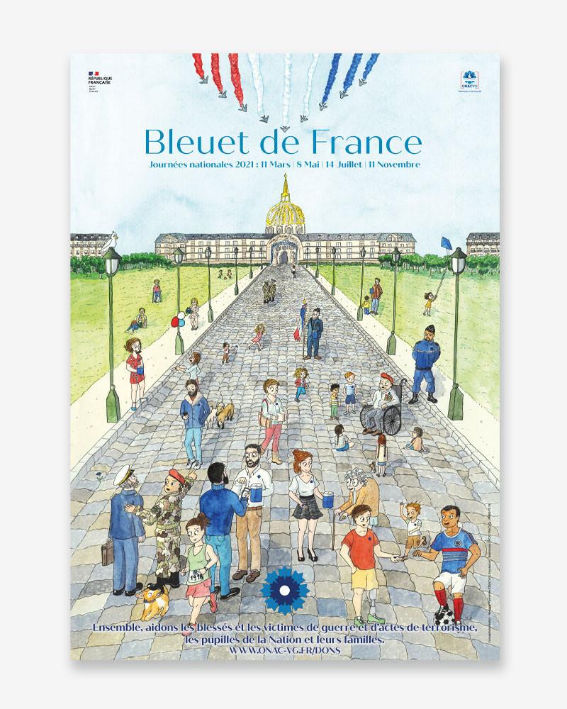 """Affiche 2021 """"Le Bleuet de France"""""""