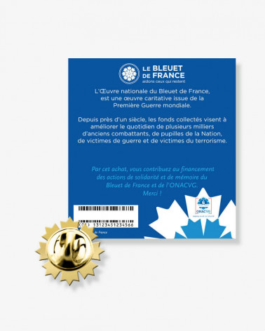 Pin's doré Bleuet de France