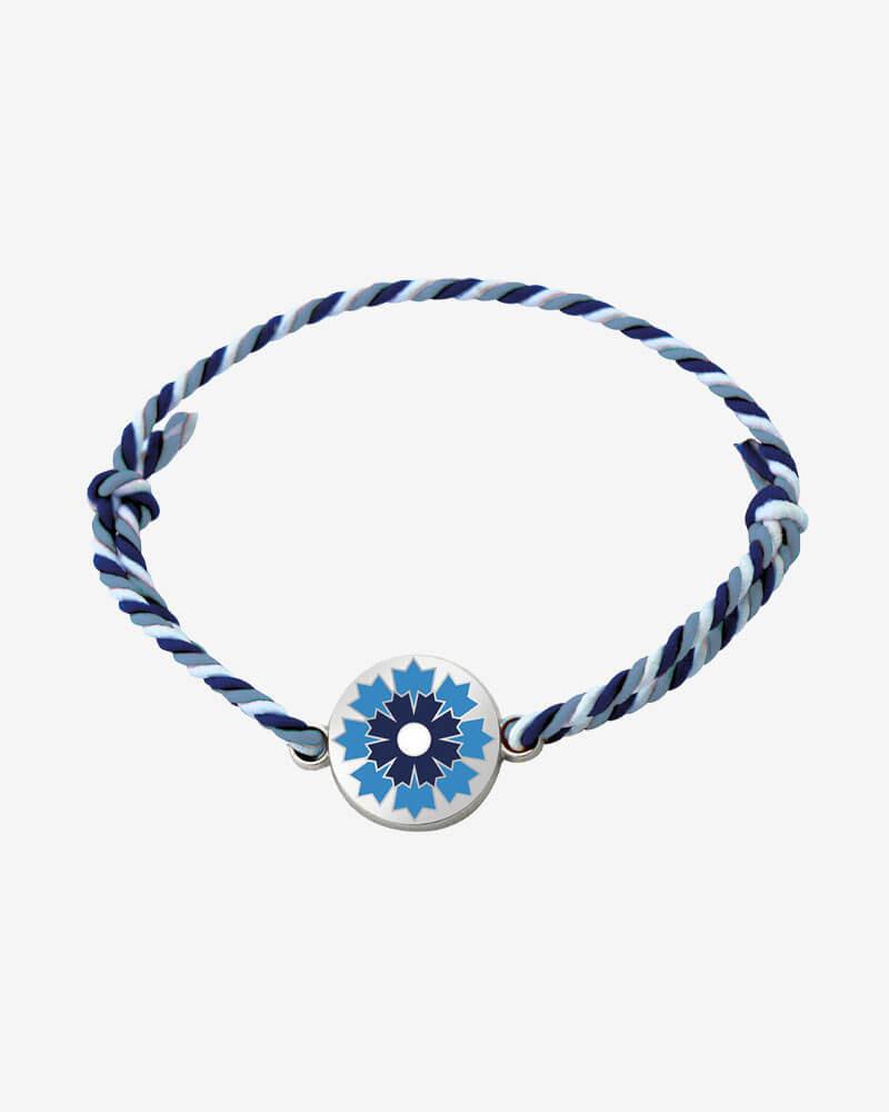 Bracelet argenté Bleuet de France